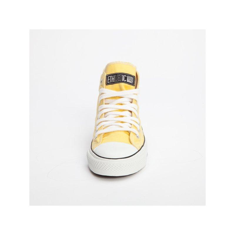 fair trade sneaker yellow white hicut 39 90. Black Bedroom Furniture Sets. Home Design Ideas
