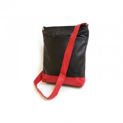 Lederhandtasche Black Red Design