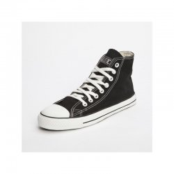 FAIR TRADE-Sneaker Black & White HiCut