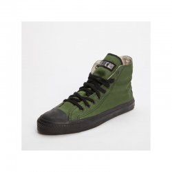 FAIR TRADE-Sneaker Olive/Black HiCut