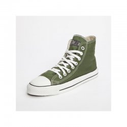 FAIR TRADE-Sneaker Olive HiCut