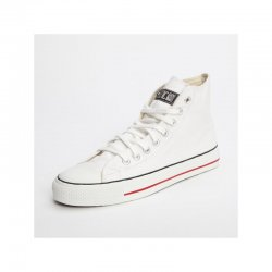 FAIR TRADE-Sneaker White HiCut